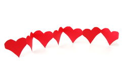 Rode harten die liefde tonen Stock Afbeelding