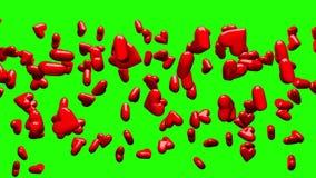 Rode Harten op Groene Chromasleutel vector illustratie