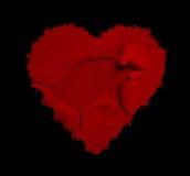 Rode harten Rode achtergrond Vectorhart van vlinders De achtergrond van het hart Royalty-vrije Stock Foto