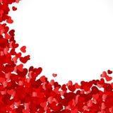 Rode hartenconfettien vector illustratie