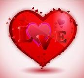 Rode hartLiefde stock illustratie
