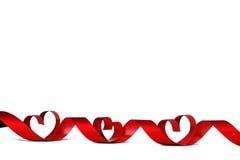 Rode hartlinten Stock Foto