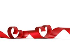 Rode hartlinten Royalty-vrije Stock Afbeelding