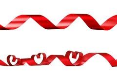 Rode hartlinten Stock Afbeelding