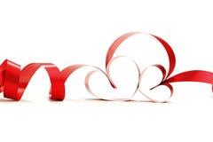 Rode hartlinten Stock Fotografie