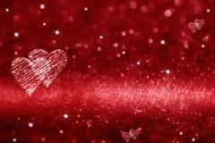 Rode hartruimte voor liefde Stock Afbeeldingen