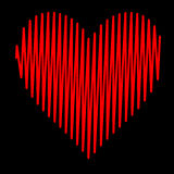 Rode hartslag van de hart de Vastgestelde Illustratie stock illustratie