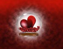 Rode hartstocht stock illustratie