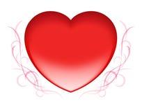 Rode hartValentijnskaart Royalty-vrije Stock Foto's