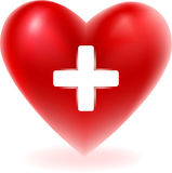 Rode hartvorm Stock Foto