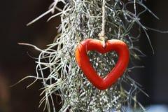Rode hartvorm Royalty-vrije Stock Afbeelding