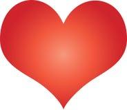 Rode hartvorm Stock Afbeeldingen