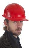 Rode helm stock afbeelding