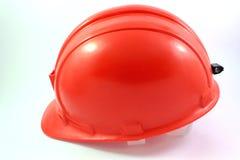 Rode helm op wit geïsoleerd Stock Foto