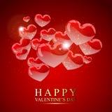Rode herten voor Valentijnskaart Royalty-vrije Stock Foto