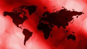 Rode het breken nieuwsintro, de motieachtergrond van de wereldkaart stock illustratie