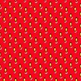 RODE HET FRUITtextuur VAN HET AARDBEIseizoen Abstract naadloos vectorpatroon Stock Afbeeldingen