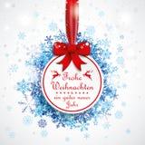 Rode het Lintsneeuwval Bokeh van de Weihnachtensnuisterij royalty-vrije illustratie