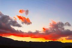 Rode het opvlammen zonsondergang in Cederberg royalty-vrije stock afbeeldingen
