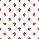 Rode het patroon naadloze vector van de sterspar royalty-vrije illustratie