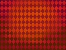 Rode het patroonachtergrond van Argyle van diamantvormen Royalty-vrije Stock Fotografie
