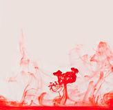 Rode het Toenemen Vloeibare Rook Royalty-vrije Stock Afbeelding