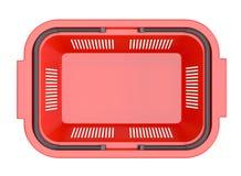 Rode het winkelen mand Stock Foto's