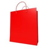 Rode het Winkelen Zak Stock Foto