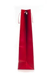 Rode het winkelen zak met kabelhandvatten Royalty-vrije Stock Fotografie