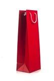 Rode het winkelen zak met kabelhandvatten Stock Afbeelding