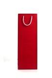 Rode het winkelen zak met kabelhandvatten Stock Fotografie