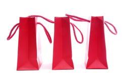 Rode het Winkelen zakken Stock Fotografie