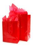 Rode het winkelen zakken royalty-vrije stock afbeelding