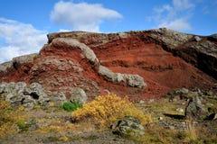 Rode heuvel stock afbeeldingen