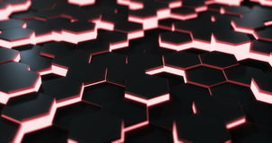 Rode Hexagonale Vloerlijn stock video