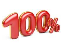 Rode honderd percenten Stock Foto