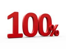 Rode honderd percenten Stock Foto's