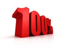 Rode honderd percenten van symbool Royalty-vrije Stock Fotografie