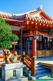Rode Hoofdzaal met gebeden bij Naminoue-heiligdom, Naha, Okinawa Royalty-vrije Stock Afbeeldingen