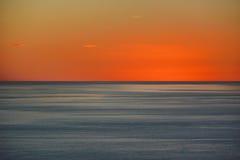Rode horizonnen over overzees stock afbeelding