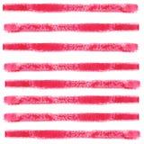 Rode horizontale die strepen met een penseelstreek worden gemaakt Waterverf abstract naadloos patroon vector illustratie