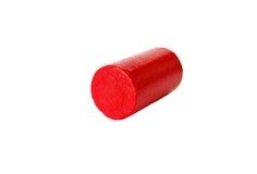 Rode houten cilinder Stock Foto's