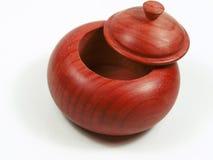 Rode houten doos Stock Foto
