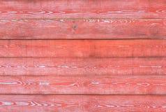 Rode houten horizontale muur Stock Foto