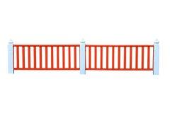 Rode houten omheining Stock Afbeeldingen