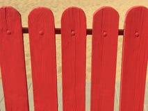 Rode houten omheining Royalty-vrije Stock Afbeelding