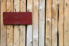 Rode houten plaat Royalty-vrije Stock Foto's