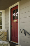 Rode huisdeur Stock Fotografie