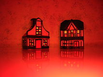 Rode huizen Royalty-vrije Stock Foto's