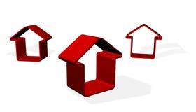 Rode huizen Royalty-vrije Stock Afbeeldingen